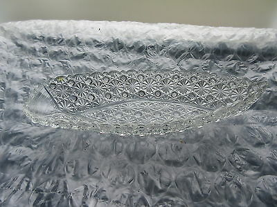 Antique EAPG Daisy & Buttton Row Boat Pickle Dish