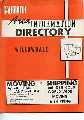 Old GALBRAITH Area information DIRECTORY Willowdale ads, etc 1973