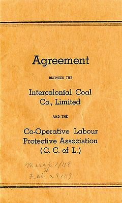 Old INTERCOLONIAL COAL CO. LTD. C.C. of L  listing of wages, pay, etc. 1948 NS