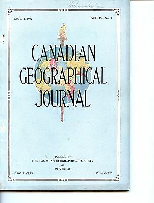 Old magazine CANADIAN GEOGRAPHICAL JOURNAL March 1932