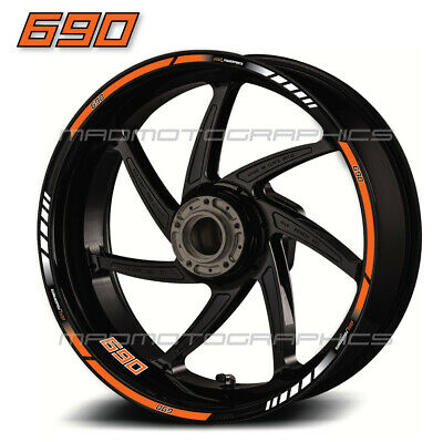 690 Duke motorcycle wheel decals 12 rim stickers laminated set enduro smc