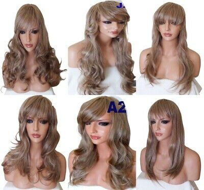 BLONDE Wig Natural Sexy Long Curly Straight Wavy Women Fashion Ladies Full WIG