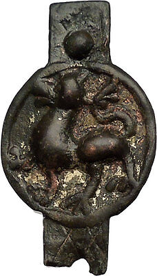 Scythian Gilded Bronze Appliqué Artifact with Lion circa 300-400 A.D. i51532