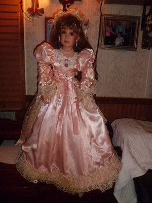 """Denise Mc. Millan 34"""" tall porcelain doll Masterpiece Gallery free shipping"""