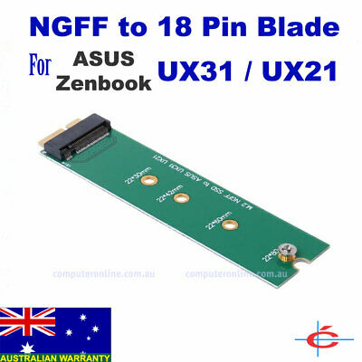 M.2 NGFF SSD to 18 Pin Blade Adapter for ASUS UX31 UX21 Zenbook SSD Replacement