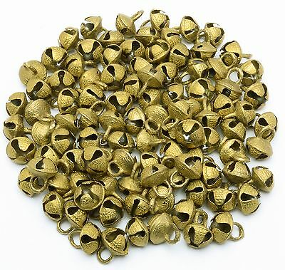 Lot of 80 pcs Vintage Style Indian Brass Bells Horse Sheep Sliegh Bells 17x14 mm