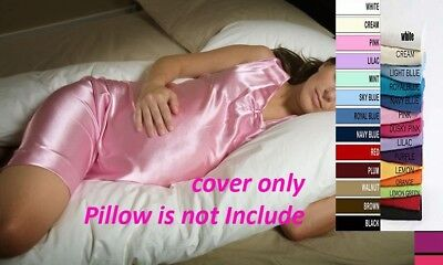 100% Luxury Cotton Maternity / Pregnancy Bolster Pillow Cover In All Sizes