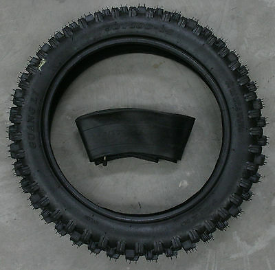 """14 inch rear knobby tyre and tube, BIGFOOT Pit/Trail/Dirt Bike, 90/100-14, 14"""""""