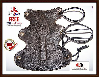 Traditional Leather archery Arm Guard, SCA, Medieval Bracer 2 layer Top Quality