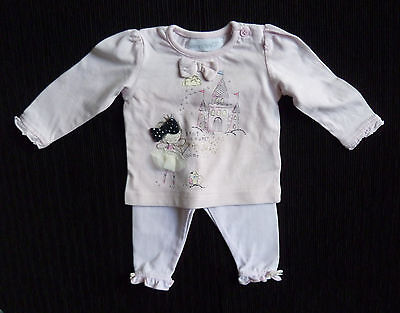 Baby clothes GIRL 0-3m outfit fairy/castle long sleeve top/NEXT leggingsSEE SHOP
