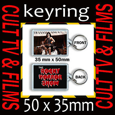 THE ROCKY HORROR PICTURE SHOW TIM CURRY- KEYRING -KEYCHAIN 35mm x 50mm  CULT TV