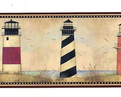 AAI08071B Country Nautical Lighthouse Wallpaper Border