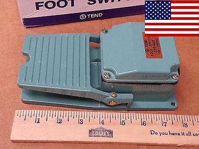Heavy Duty Cast Aluminum Foot Pedal SPDT Momentary Switch 15A *FAST US SHIP