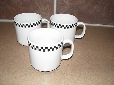 Gibson Checkered  Black White Cups Set of 3 Blends with Gibson Coca Cola Sets
