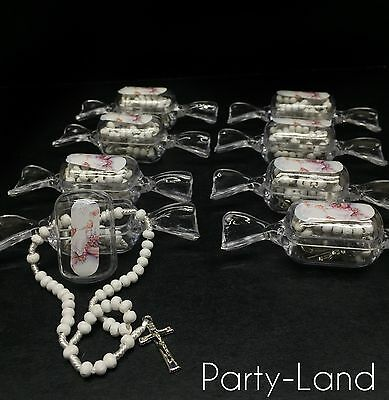 24 Boy & Girl Rosary White Baptism First Communion  Bautizo Souvenir Remembrance