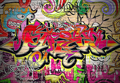3d Graffiti Urban St Art Full Wall Mural Photo Wallpaper Print Paper