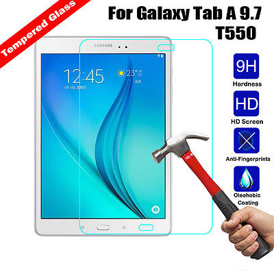 Premium Tempered Glass Guard Screen Film for Samsung Galaxy Tab A 9.7 SM-T550