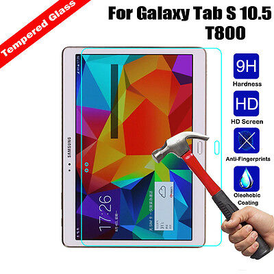 """Real Tempered Glass Screen Protector for Samsung Galaxy Tab S T800 T805 10.5"""""""
