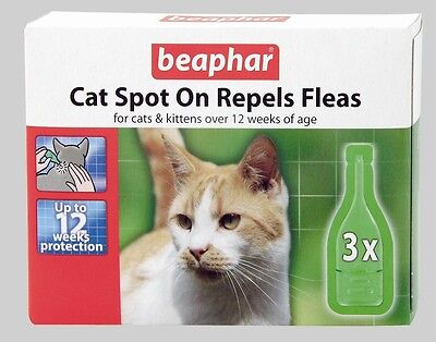 Beaphar Flea 12 Week Drops Spot On Treatment for Cats Kittens Trendy Fleas