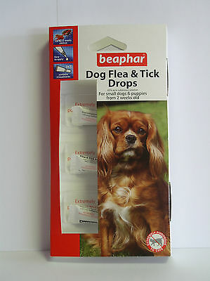 Beaphar Flea 12 Week Drops Spot On for Small Dogs Puppies Fleas & Ticks Trendy
