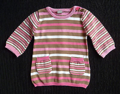 Baby clothes GIRL 0-3m TU knitted pink,coffee,white soft stripe dress SEE SHOP!
