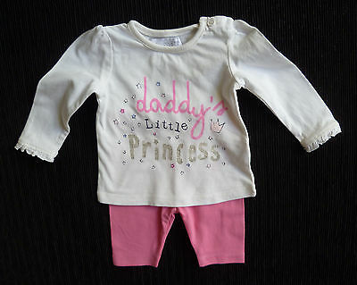 Baby clothes GIRL 0-3m outfit Disney leggings pink/Early Days long sleeve top