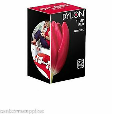 Dylon TULIP RED MACHINE DYE 200g Fabric Cotton Linen Clothes Trendy Jeans UK