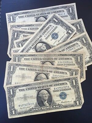 1957 One Dollar Well Circulated Silver Certificate Note - $1 Bill
