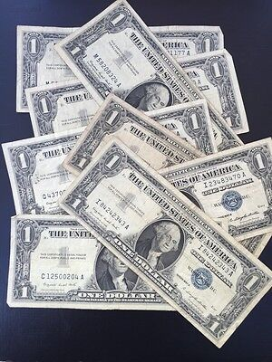 1957A One Dollar Well Circulated Silver Certificate Note - $1 Bill