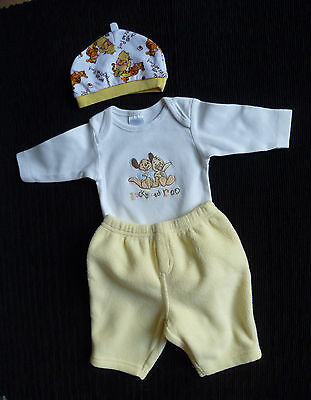 Baby clothes UNISEX BOY GIRL newborn 0-1m outfit fleece trousers, Disney top/hat