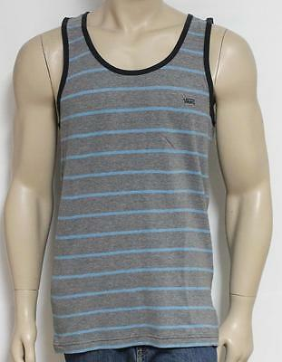 30cb9851c5397a VANS Off The Wall Marcel Pique Knit Tank Top Mens Blue Striped Tee Shirt  New NWT