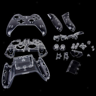 Full Housing Shell Case Kit Replacement Parts for Xbox One Controller -Clear
