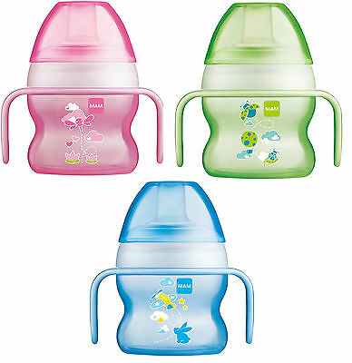 MAM Starter Cup 150ml 1pk (4+ Months)Avaliable in Pink, Blue or Green