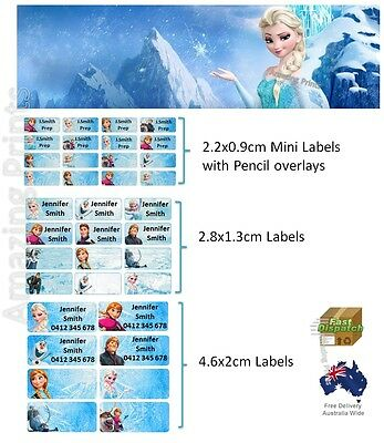 Frozen Vinyl Personalised Name Label Sticker school book pencil texta tag girl