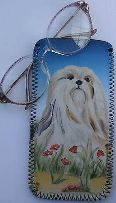 Lhasa Apso Dog Design Glasses Case Pouch Mobile Phone Sandra Coen Artist Print
