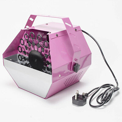 40W Pink Large Electric Bubble Blower Blowing Maker Machine DJ Party Club Xmas