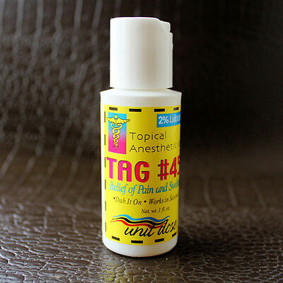 TAG #45 Topical Anesthetic Gel for numbing Tattooing Piercing Waxing Electrology