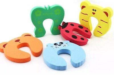 Set Of 3 Door Jammers Stoppers Safety Baby Toddler Proofing