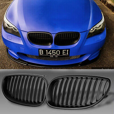 Front Kidney Nose Grilles Grill For BMW E60 E61 5Series M5 2003-2009 Black
