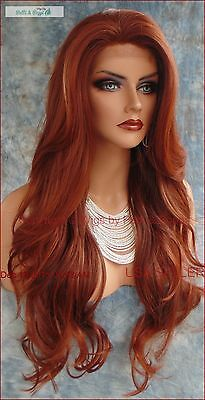 Lace Front Wig CLR RED T33.130 LONG FLOWING SLINKY WAVES FAST SHIP US SELLER 275