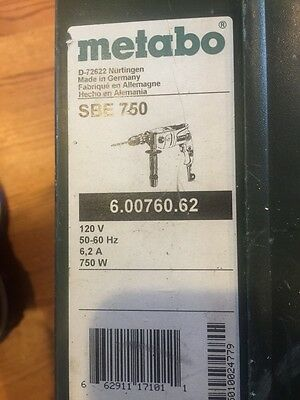 METABO SBE 750 Drill With Case