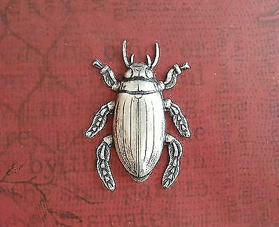 Large Oxidized Silver Cockroach (1)- SOS3074