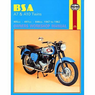 Manual Haynes for 1954 BSA A7 (497cc)