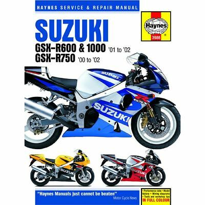 Manual Haynes for 2002 Suzuki GSX-R 600 K2