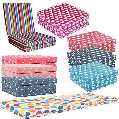 3 Section Fold Out Cube Kids Guest Z Bed Chair Bed Futon Chairbed Adult Gilda