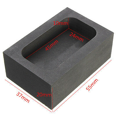 5 OZ High Purity Graphite Casting Ingot Mold for Gold/Silver Melting Refining