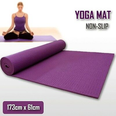 Extra Thick 6mm PVC Yoga Gym Pilate Mat Fitness Non Slip Exercise Board Purple