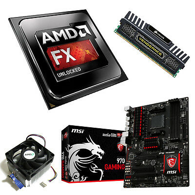 AMD FX 8320 Eight Core 4.00GHz 8GB Vengeance MSI 970 Gaming Motherboard Bundle