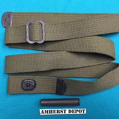 M1 Carbine Sling USGI Cotton Olive Drab with Oiler Vietnam Era
