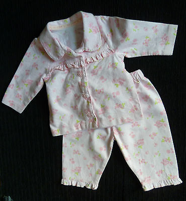 Baby clothes GIRL 0-3m winter-weigh soft cotton pyjamas pink 2nd item post-free!